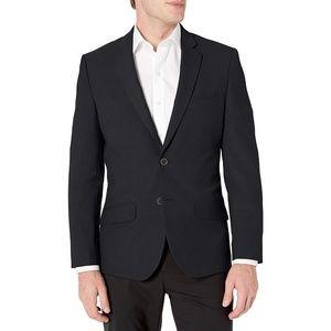 Men's Slim-Fit Stretch Blazer, Black, Size 42